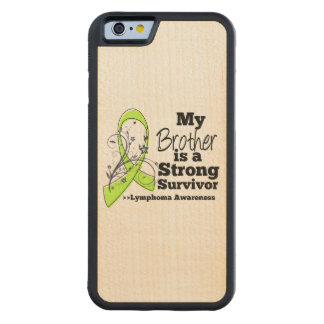 Mi Brother es un superviviente fuerte del linfoma Funda De iPhone 6 Bumper Arce