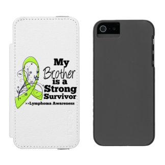 Mi Brother es un superviviente fuerte del linfoma Funda Billetera Para iPhone 5 Watson