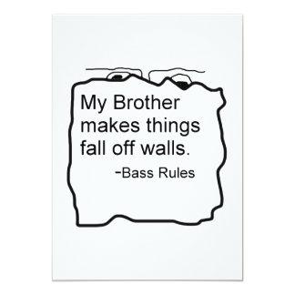 Mi Brother hace caída de las cosas de reglas del Invitación 12,7 X 17,8 Cm