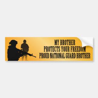 Mi Brother protege su libertad (Guardia Nacional B Pegatina De Parachoque