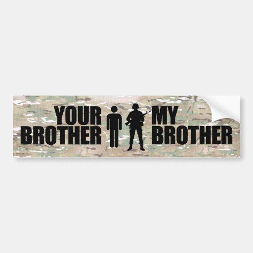 Mi Brother sirve en los militares Pegatina De Parachoque