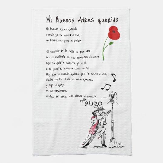 Mi Buenos Aires Querido Tango Hand Towel