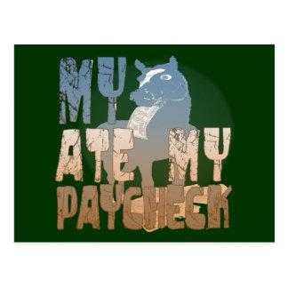 Mi caballo comió mi cheque postal