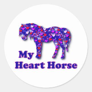 Mi caballo del corazón pegatinas redondas