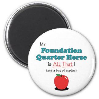 ¡Mi caballo del cuarto de la fundación es todo el Imanes De Nevera