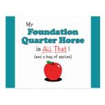 ¡Mi caballo del cuarto de la fundación es todo el  Tarjetas Postales