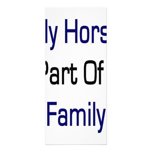 "Mi caballo es parte de mi familia folleto publicitario 4"" x 9"""