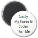 Mi caballo es tristemente más fresco que mí imán
