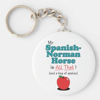 ¡Mi caballo Español-Normando es todo el eso! Cabal Llaveros Personalizados