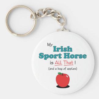 ¡Mi caballo irlandés del deporte es todo el eso! C Llavero Redondo Tipo Pin
