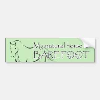 Mi caballo natural está descalzo con el caballo gr pegatina para auto