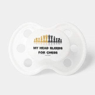 Mi cabeza sangra para el ajedrez (el humor del chupetes de bebé