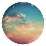 Mi cabeza se pega en las nubes plato para fiesta