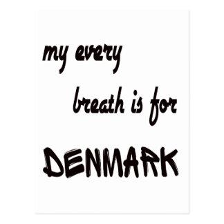 Mi cada respiración está para Dinamarca Tarjetas Postales