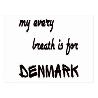 Mi cada respiración está para Dinamarca Postales