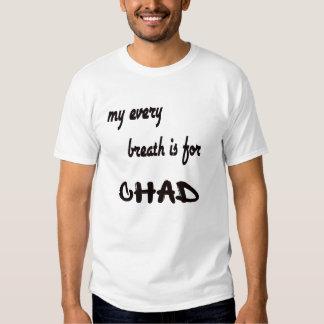 Mi cada respiración está para República eo Tchad Polera