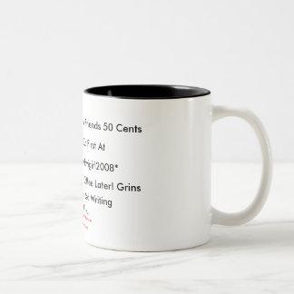 Mi café solamente costó a mis amigos la taza de 50