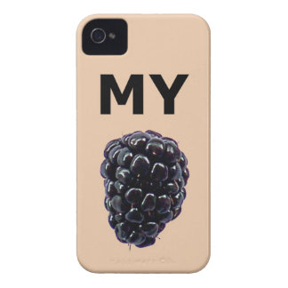 """Mi caja de la casamata de Blackberry"" Blackberry iPhone 4 Carcasas"