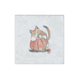 Mi calabaza Meows gatito del tigre Sumi-e