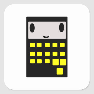 Mi calculadora feliz pegatina cuadrada
