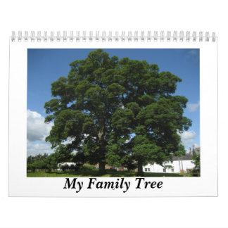 Mi calendario del árbol de familia