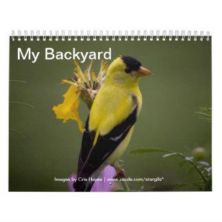Mi calendario del patio trasero de pájaros salvaje