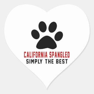 Mi California Spangled simplemente el mejor Pegatina En Forma De Corazón