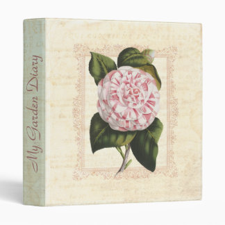 Mi camelia del blanco del rosa del diario del jard