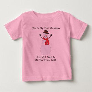 Mi camisa del bebé del muñeco de nieve de dos