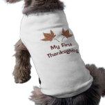 Mi camisa del perrito de la hoja de FirstThanksgiv Camisetas De Mascota
