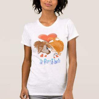Mi camisa indicada con letras del amor de PonyZ
