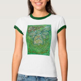 Mi camiseta del ángel del cáncer del verde de la playera