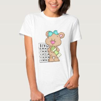 Mi camiseta del oso del bingo de la diversión poleras