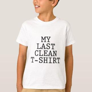 Mi camiseta limpia pasada playeras