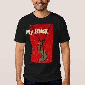 Mi camiseta negra de Bling Camisas
