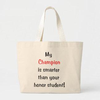 Mi campeón es más elegante… bolsa tela grande