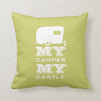 Mi campista mi castillo - almohada que acampa de r