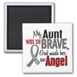 Mi cáncer de cerebro de tía Is An Angel 1 Imán Para Frigorifico