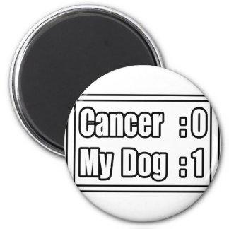 Mi cáncer del golpe del perro (marcador) imán redondo 5 cm
