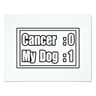 """Mi cáncer del golpe del perro (marcador) invitación 4.25"""" x 5.5"""""""