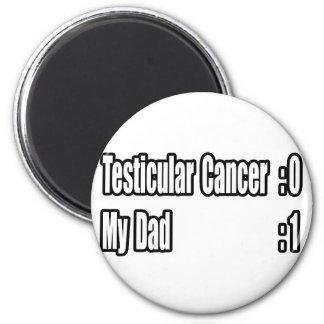 Mi cáncer testicular del golpe del papá (marcador) imán de frigorifico