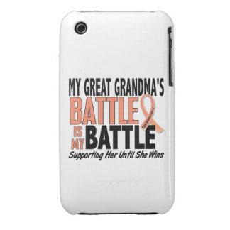 Mi cáncer uterino de la abuela demasiado grande de iPhone 3 carcasa