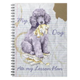 Mi caniche estándar comió mi plan de lección spiral notebooks