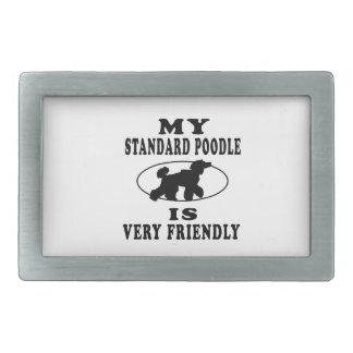 Mi caniche estándar es muy amistoso hebilla cinturón rectangular