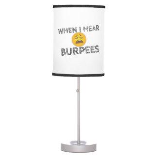 Mi cara cuando oigo Burpees - Emoji trastornado Lámpara De Mesilla De Noche