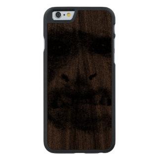 Mi cara de la preocupación - parásitos funda de iPhone 6 carved® slim de nogal