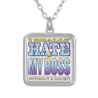Mi cara del odio de Boss Colgante Cuadrado