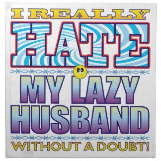 Mi cara perezosa del odio del marido servilletas
