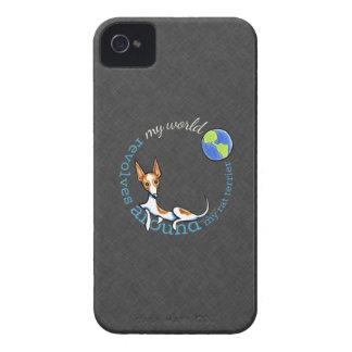 Mi carbón rojo de Terrier de rata del mundo iPhone 4 Case-Mate Cárcasas