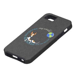 Mi carbón rojo de Terrier de rata del mundo iPhone 5 Case-Mate Fundas